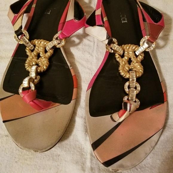 b7b0cda7f63 Emilio Pucci Shoes - Sandals Pink and white emilio pucci